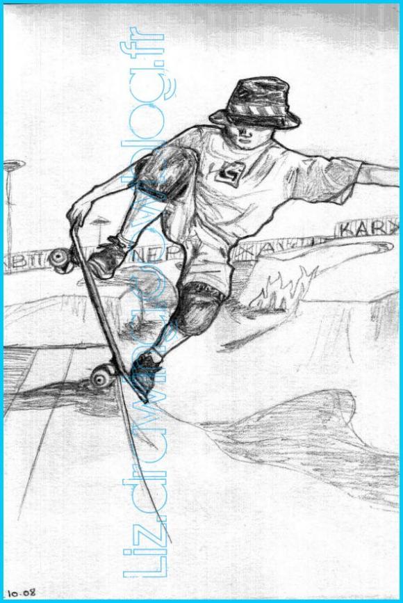 Dessin d 39 un skateur liz drawing liz 39 sdrawing cowblog - Dessin skateboard ...